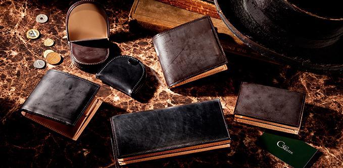父親にプレゼントするコードバン皮革素材のココマイスターの財布